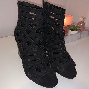 Charlotte Russe Black Cutout Heels